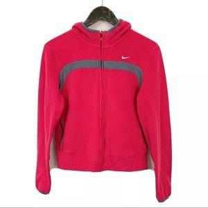 Nike Hot Pink Fleece Full Zip Sweater Jacket